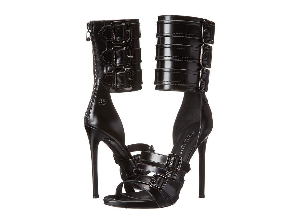 Philipp Plein - Popstar Sandals (Black) Women's Sandals