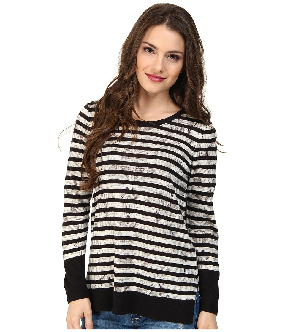 NIC+ZOE - Petite Enchanting Stripes Top Tissue Tee (Neutral Multi) Women's T Shirt
