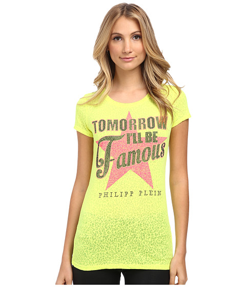 Philipp Plein - Be Famous T-Shirt (Yellow) Women's T Shirt