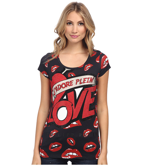 Philipp Plein - Big Kisses T-Shirt (Full Mouths) Women