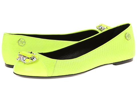 Philipp Plein - Sweet Ballet Flat (Yellow) Women's Flat Shoes
