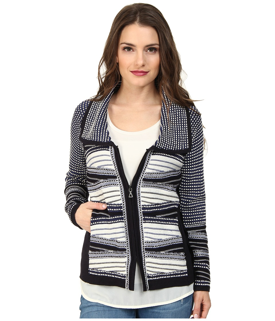 NIC+ZOE - Petite Winding Weave Jacket (Multi) Women's Coat