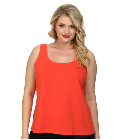 NIC+ZOE - Plus Size Perfect Tank (Hot Coral) Women