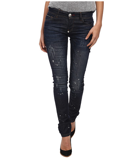 Philipp Plein - Only Hope Slim Fit Jeans (Azure Blue) Women's Jeans
