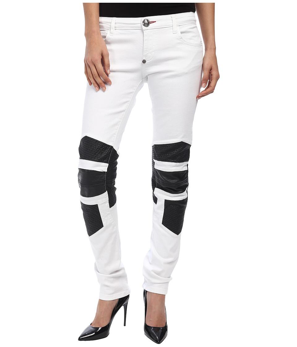 Philipp Plein - Boao Super Slim Fit Jeans (Snow White) Women's Jeans