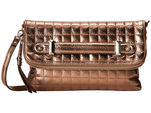 Jessica Simpson - Carlyle Quilted Foldover Crossbody (Bronze) Cross Body Handbags