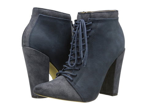 Michael Antonio - Juliane Boot (Navy PU) Women's Lace-up Boots