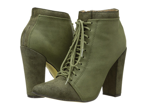 Michael Antonio - Juliane Boot (Olive PU) Women's Lace-up Boots