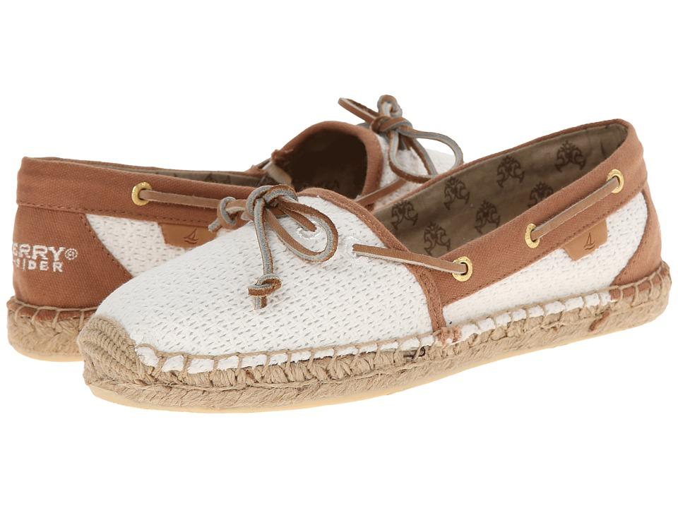 Sperry Top-Sider - Katama Open Cotton Mesh (Ivory/Cognac) Women's Slip on Shoes
