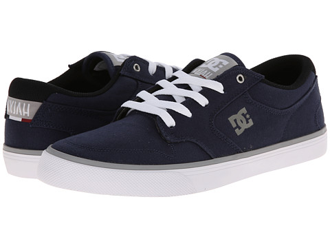 DC - Nyjah Vulc TX (Navy/Grey) Men's Skate Shoes