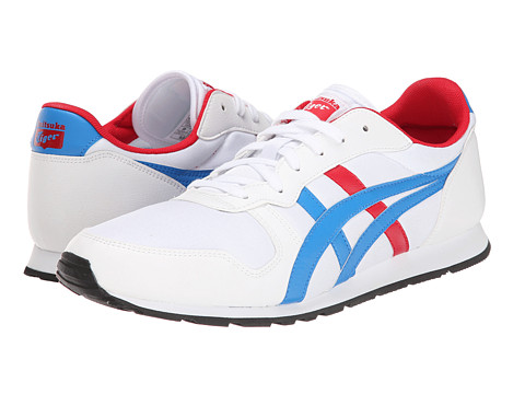 Onitsuka Tiger by Asics - Temp Racer (White/Mid Blue) Shoes