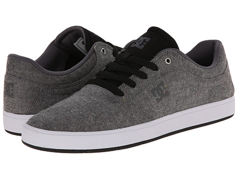 DC - Crisis TX SE (Grey/Black) Men's Skate Shoes