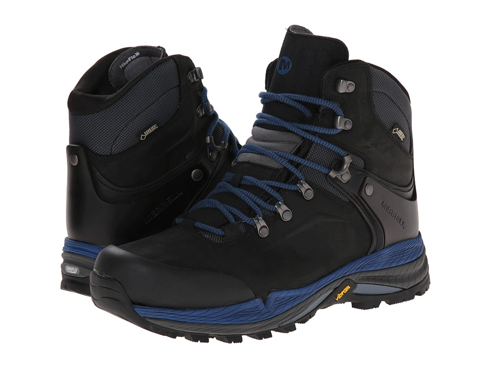 Merrell - Crestbound GORE-TEX(r) (Black/Blue) Men's Hiking Boots