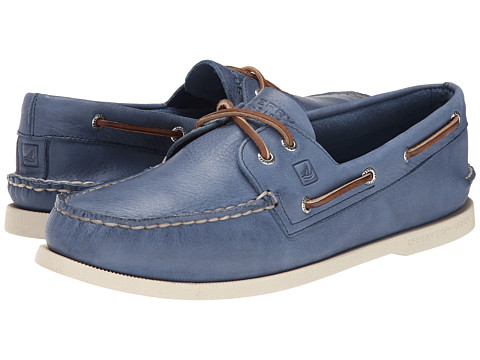 Sperry Top-Sider - A/O 2-Eye Burnished (Blue 1) Men's Lace up casual Shoes