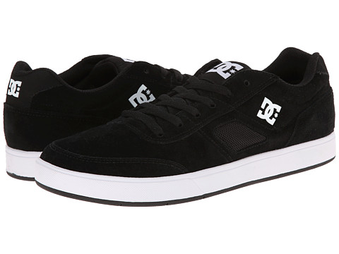 DC - Cue (Black/White) Men's Skate Shoes