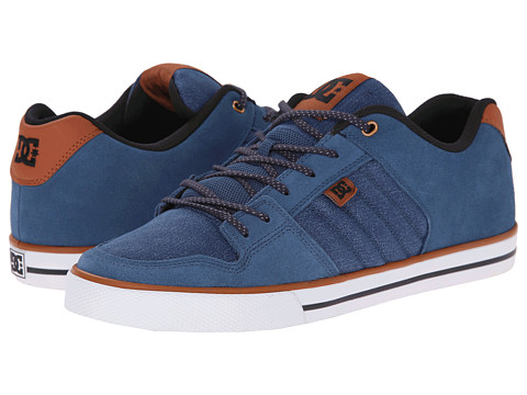 DC - Course XE (Blue/Brown/Blue) Men's Skate Shoes