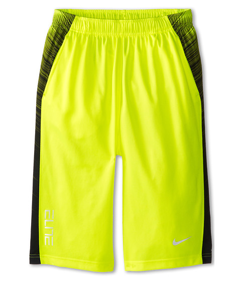 Nike Kids - Elite Wing Short (Little Kids/Big Kids) (Volt/Black/White/White) Boy