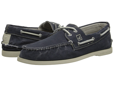 Sperry Top-Sider - A/O 2-Eye SW Canvas (Navy) Men's Lace up casual Shoes
