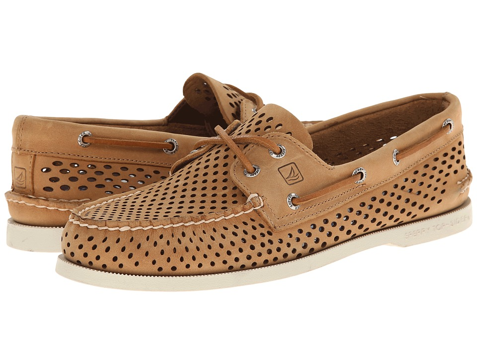 Sperry Top-Sider - A/O 2-Eye Laser Perf (Brown) Men's Lace up casual Shoes
