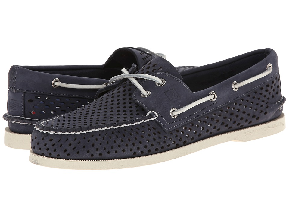 Sperry Top-Sider - A/O 2-Eye Laser Perf (Navy) Men's Lace up casual Shoes