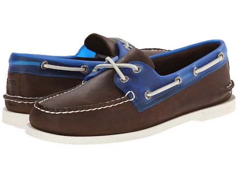 Sperry Top-Sider - A/O 2-Eye Seaglass (Dark Brown/Blue) Men's Lace up casual Shoes