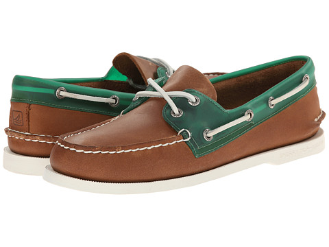 Sperry Top-Sider - A/O 2-Eye Seaglass (Dark Tan/Green) Men's Lace up casual Shoes