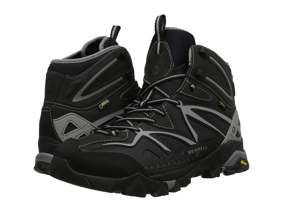 Merrell - Capra Mid Sport GORE-TEX (Black/Wild Dove) Men's Hiking Boots