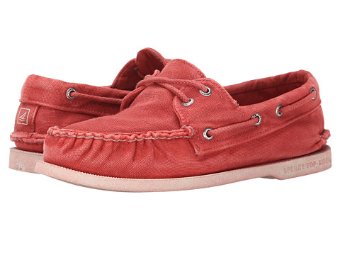Sperry Top-Sider - A/O 2-Eye Color Wash (Red) Men's Slip on Shoes
