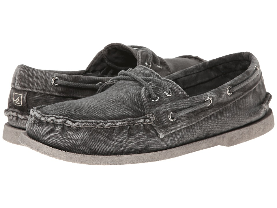 Sperry Top-Sider - A/O 2-Eye Color Wash (Grey) Men's Slip on Shoes