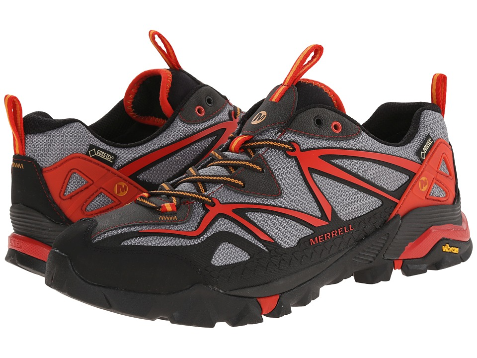 Merrell - Capra Sport GORE-TEX (Light Grey/Red) Men's Lace up casual Shoes