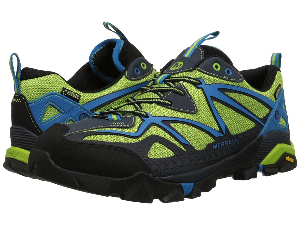 Merrell - Capra Sport GORE-TEX (Black/Lime Green) Men's Lace up casual Shoes