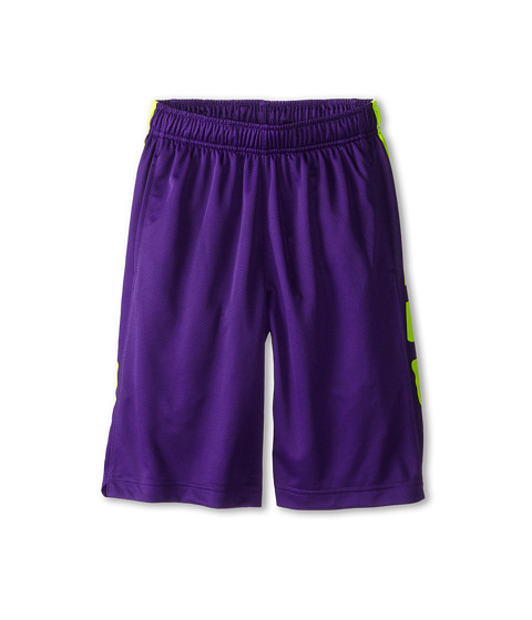 Nike Kids - Elite Stripe Short (Little Kids/Big Kids) (Court Purple/Volt/Volt) Boy's Workout