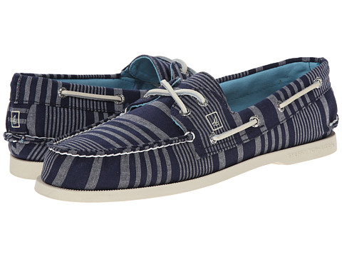 Sperry Top-Sider - A/O 2-Eye Stripe (Navy) Men's Lace up casual Shoes