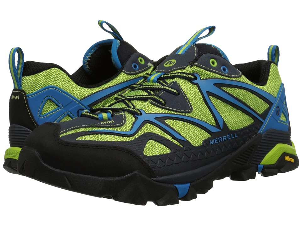 Merrell - Capra Sport (Black/Lime Green) Men's Lace up casual Shoes