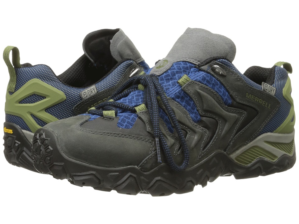 Merrell - Chameleon Shift Ventilator Waterproof (Castle Rock/Tahoe Blue) Men's Lace up casual Shoes
