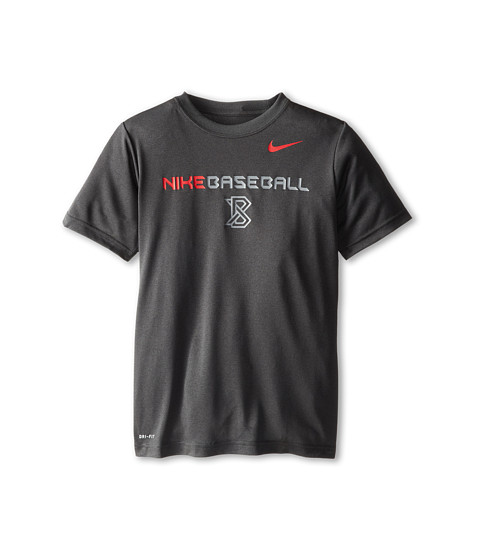 Nike Kids - Lightweight Dri-Fit GFX S/S Top (Little Kids/Big Kids) (Anthracite/Gym Red) Boy's Short Sleeve Pullover