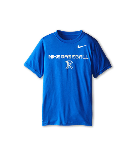 Nike Kids - Lightweight Dri-Fit GFX S/S Top (Little Kids/Big Kids) (Game Royal/White) Boy's Short Sleeve Pullover