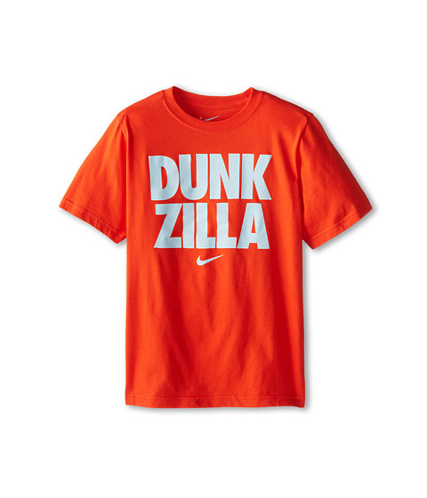 Nike Kids - NA Basketball Dunk Zilla TD Tee (Little Kids/Big Kids) (Team Orange/Team Orange) Boy