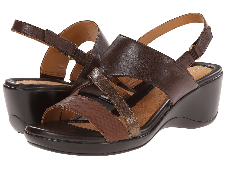 Naturalizer - Tenor (Oxford Brown/Banana Bridal Leather/Moda Bronze Metallic) Women's Sandals