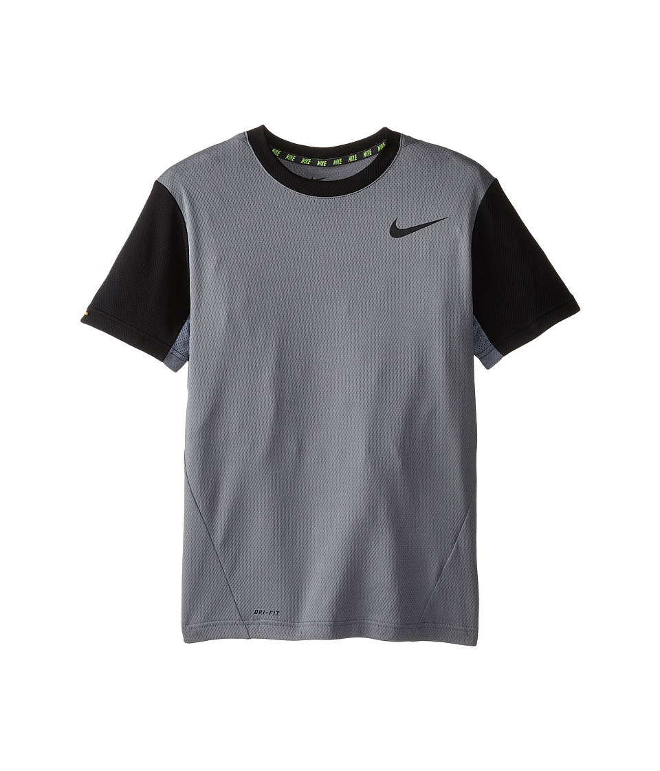 Nike Kids - Vapor Dri-FIT S/S Top (Little Kids/Big Kids) (Cool Grey/Black/Black) Boy's Workout