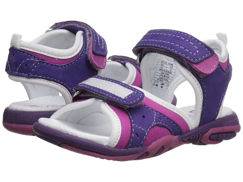 Umi Kids - Vione (Toddler/Little Kid) (Purple Multi) Girls Shoes