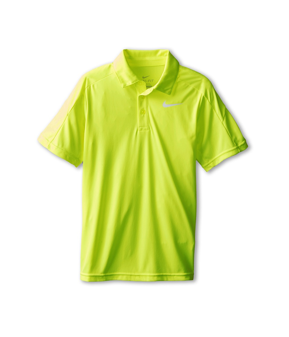 Nike Kids - Dry Short Sleeve Tennis Polo (Little Kids/Big Kids) (Volt/Volt/Volt/White) Boy's Short Sleeve Pullover
