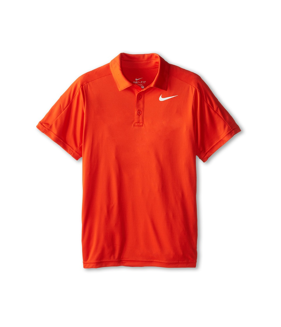 Nike Kids - Team Court Polo (Little Kids/Big Kids) (Team Orange/Team Orange/White) Boy's Short Sleeve Pullover
