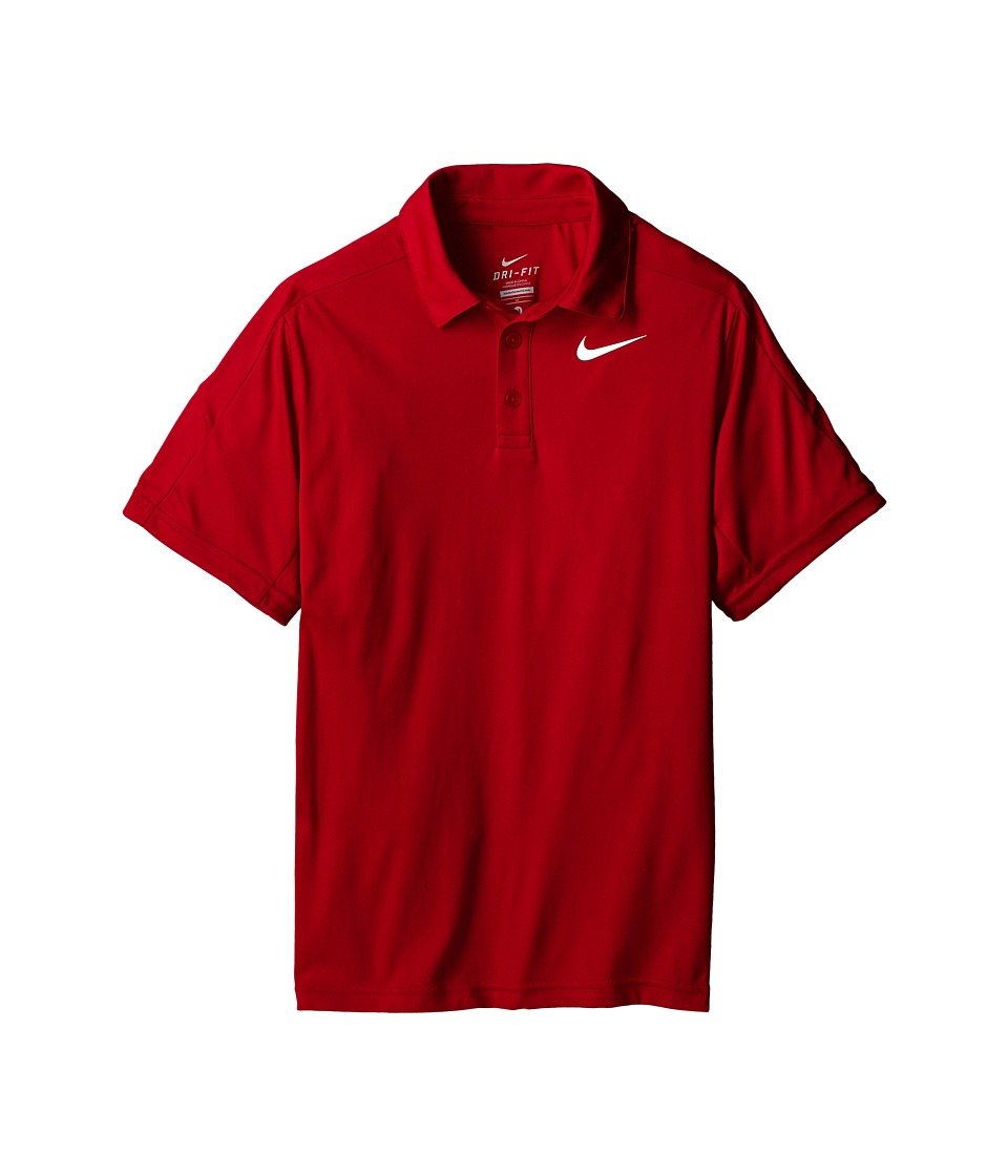 Nike Kids - Dry Short Sleeve Tennis Polo (Little Kids/Big Kids) (Gym Red/Gym Red/Gym Red/White) Boy's Short Sleeve Pullover