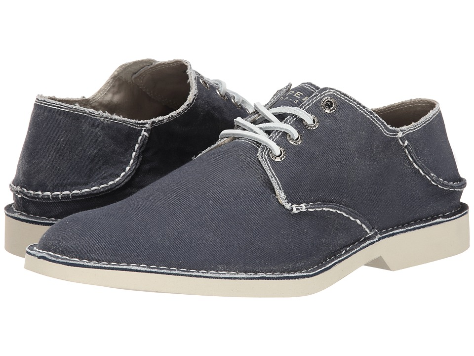 Sperry Top-Sider - Harbor Plain Toe Canvas (Navy) Men's Lace up casual Shoes