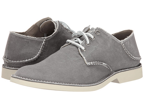 Sperry Top-Sider - Harbor Plain Toe Canvas (Grey) Men's Lace up casual Shoes