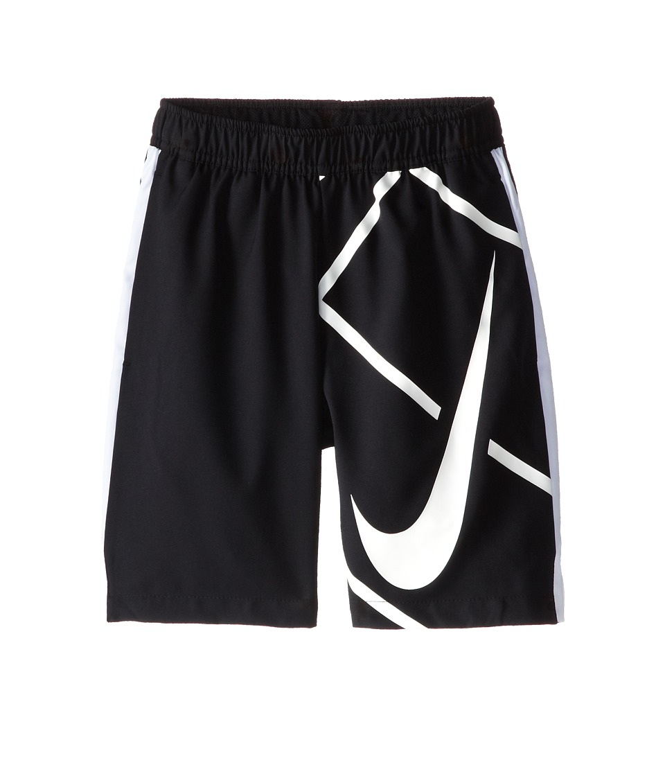 Nike Kids - Court 8 GFX Short (Little Kids/Big Kids) (Black/White/Black/White) Boy