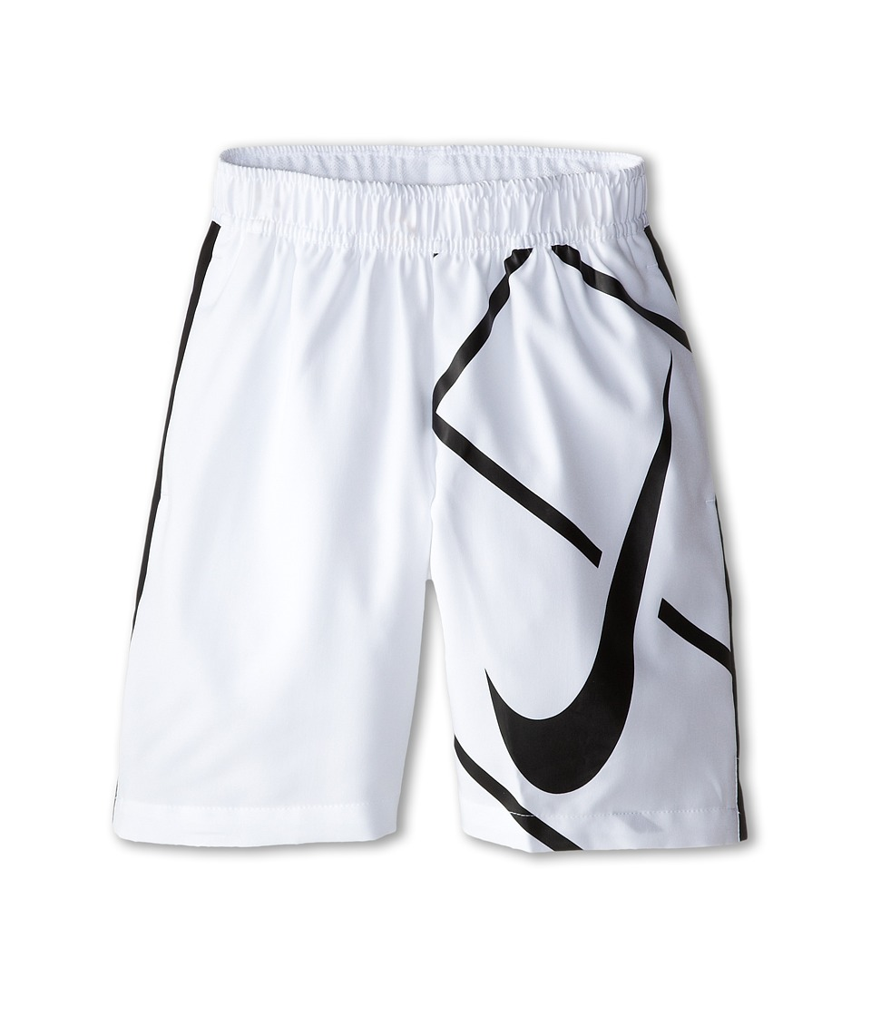 Nike Kids - Court 8 GFX Short (Little Kids/Big Kids) (White/Black/White/Black) Boy's Shorts