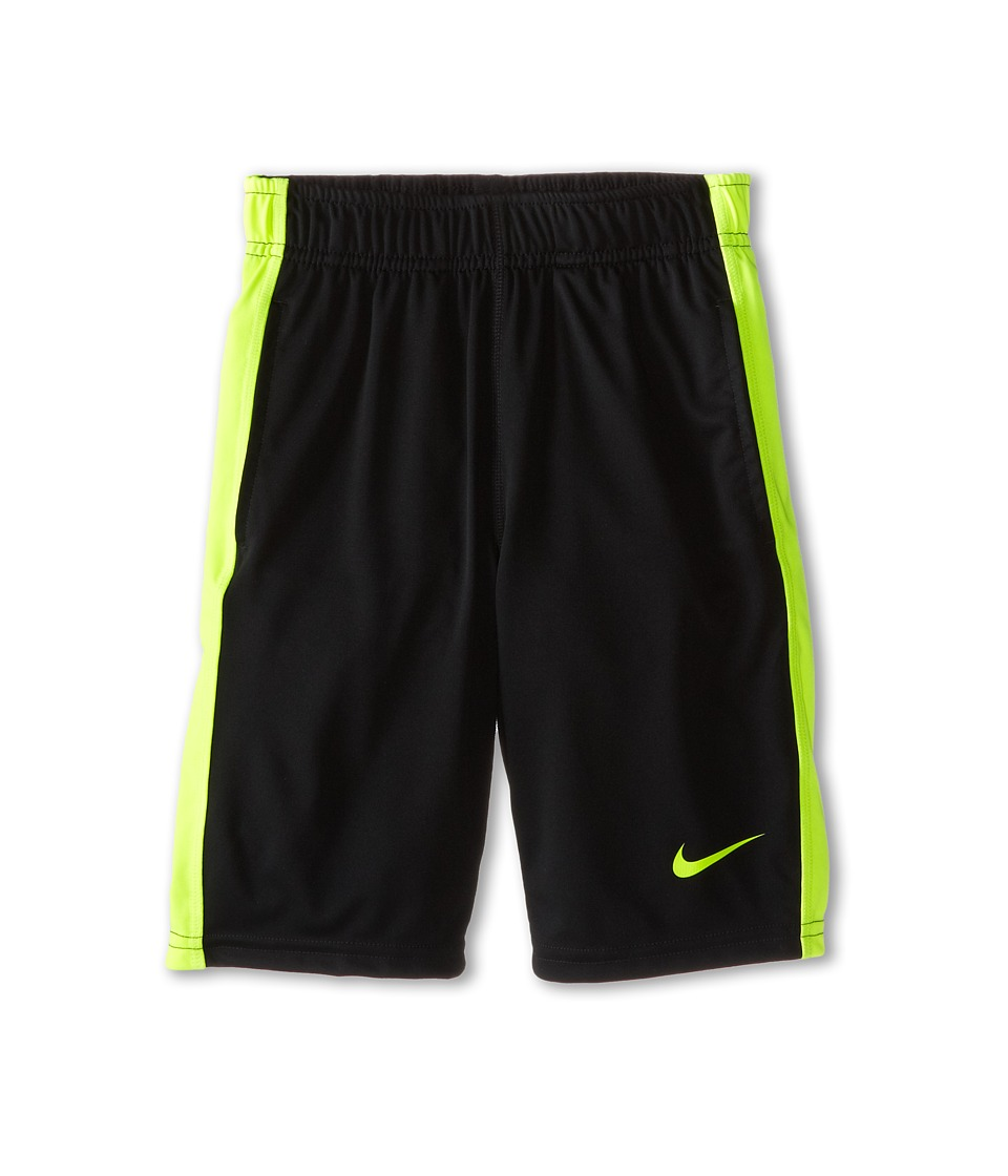 Nike Kids - Fly Short (Little Kids/Big Kids) (Black/Volt/Volt) Boy