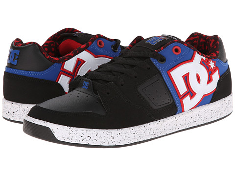 DC - Sceptor TP (Black/Blue/Red) Men's Skate Shoes